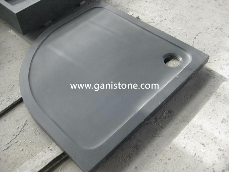 Honed Shanxi Black Granite Shower Tray