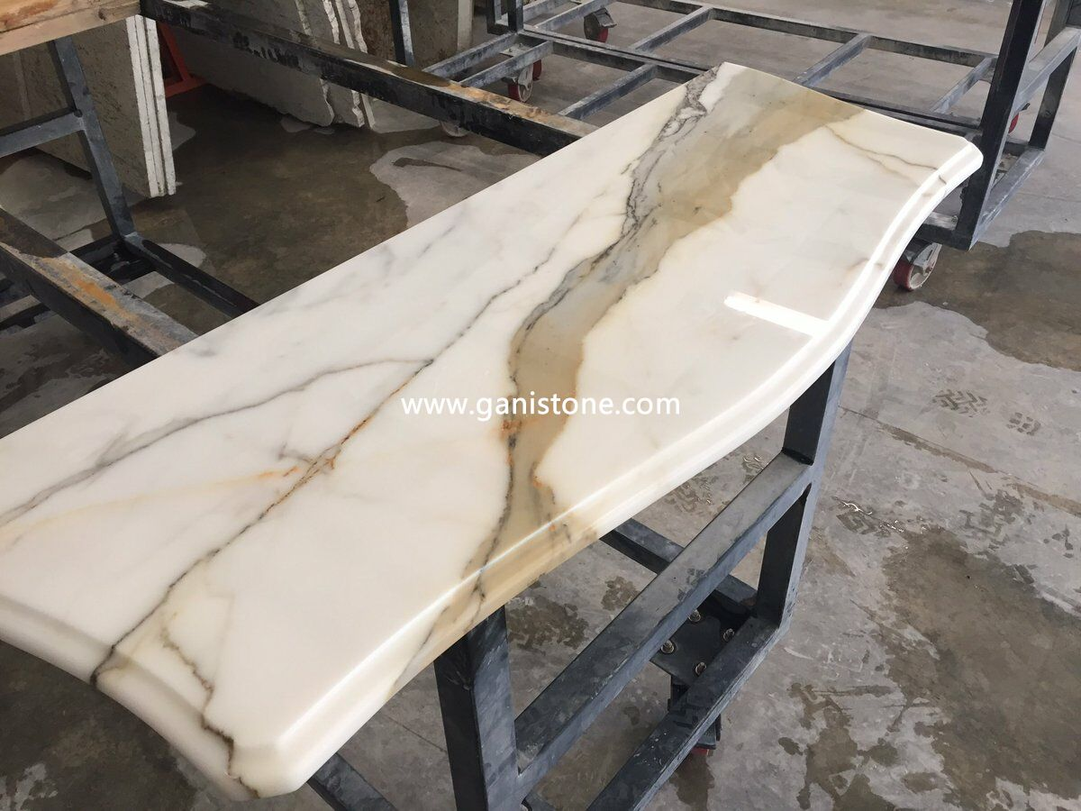 Calacatta gold marble vanity units - Marble vanity units ...
