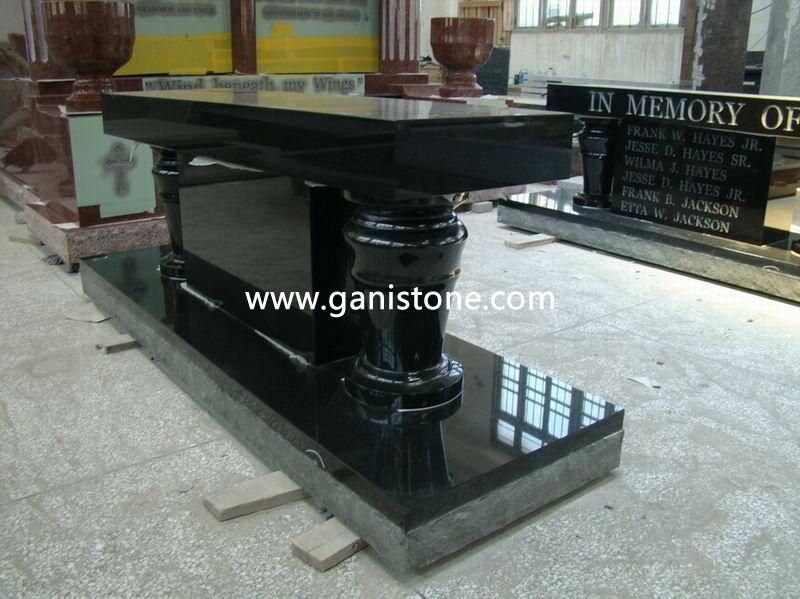 Shanxi Black Granite Monument Bench